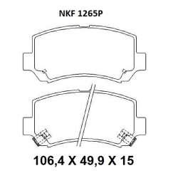 Pastilha de Freio - NKF 1265P