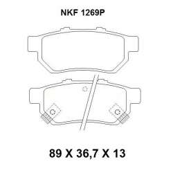 Pastilha de Freio - NKF 1269P