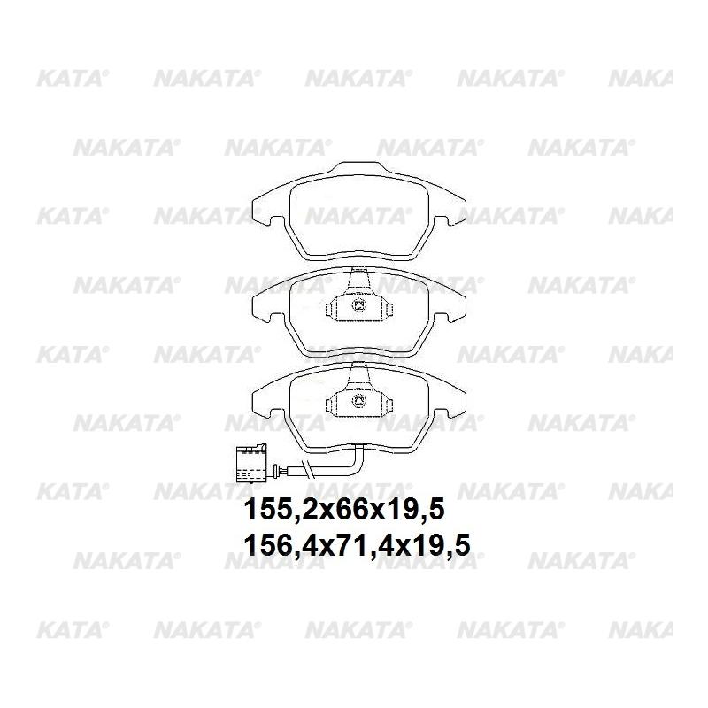 Pastilha de Freio - NKF 1282P