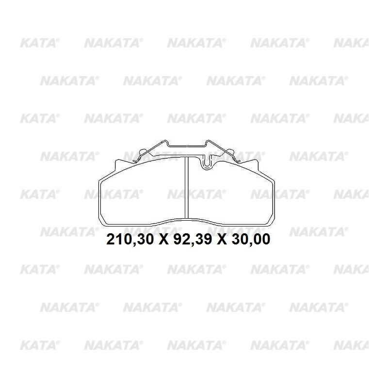 Pastilha de Freio - NKF 1294P