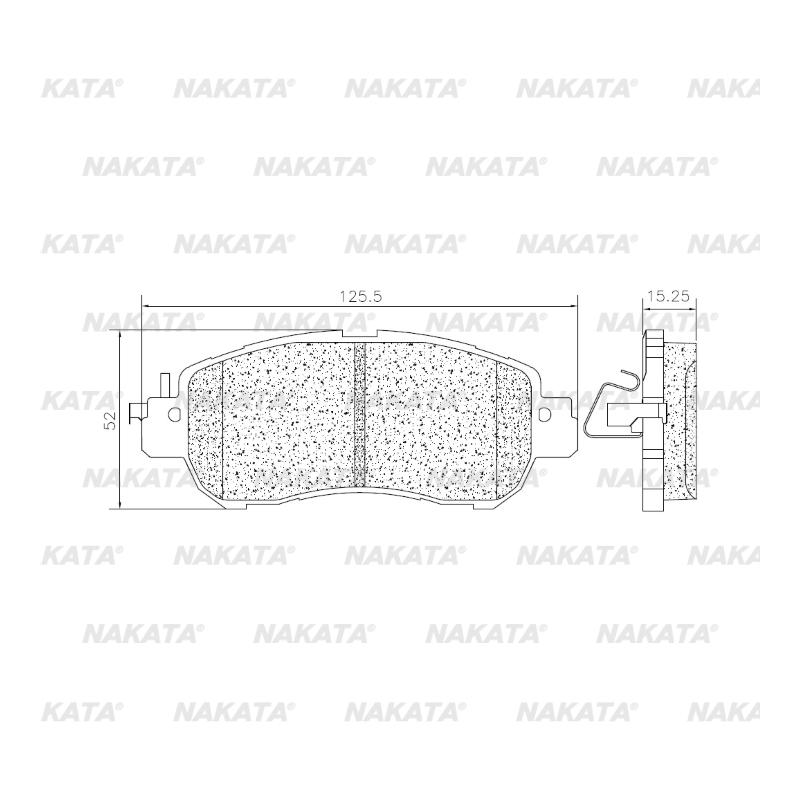 Pastilha de Freio - NKF 1395P